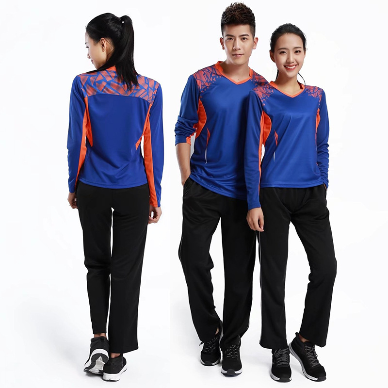 New Style Autumn And Winter Long Sleeve Badminton Clothing Set Men And Women Couples Sports Clothing Ping Pong Clothing Running