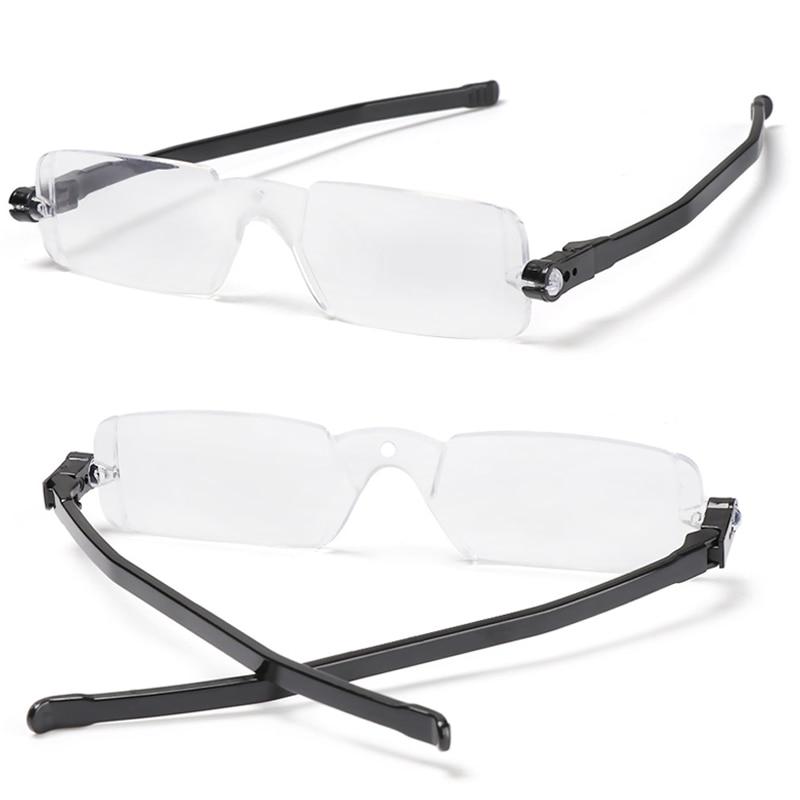 1Pc 2021 occhiali da lettura rotazione a 360 gradi occhiali da vista pieghevoli in plastica da uomo con custodia occhiali magnetici progressivi presbiti