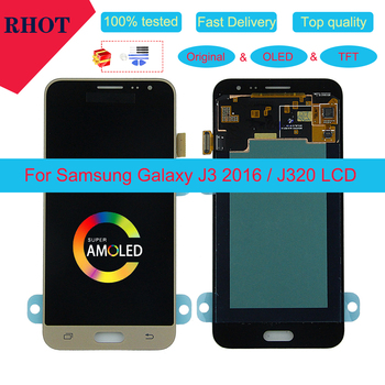 Original/OLED/TFT 5.0 LCD monitor for Samsung Galaxy J3 2016 J320 J320A J320F J320P J320M J320Y J320FN touch screen assembly amoled lcd sm j320fn f m h ds for samsung j3 2016 j320 j3 2015 j300 lcd display touch screen j320f j320fn j320h j320m j3 lcd