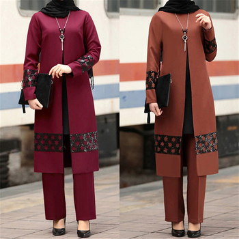 Vestido Abaya de Moda musulmana árabe para mujer, conjunto de pantalón informal...