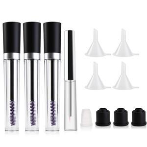 Image 5 - Empty Refillable Bottles Plastic DIY Mascara Tube Eyelash Cream Wand Container Bottle Vials With Brush