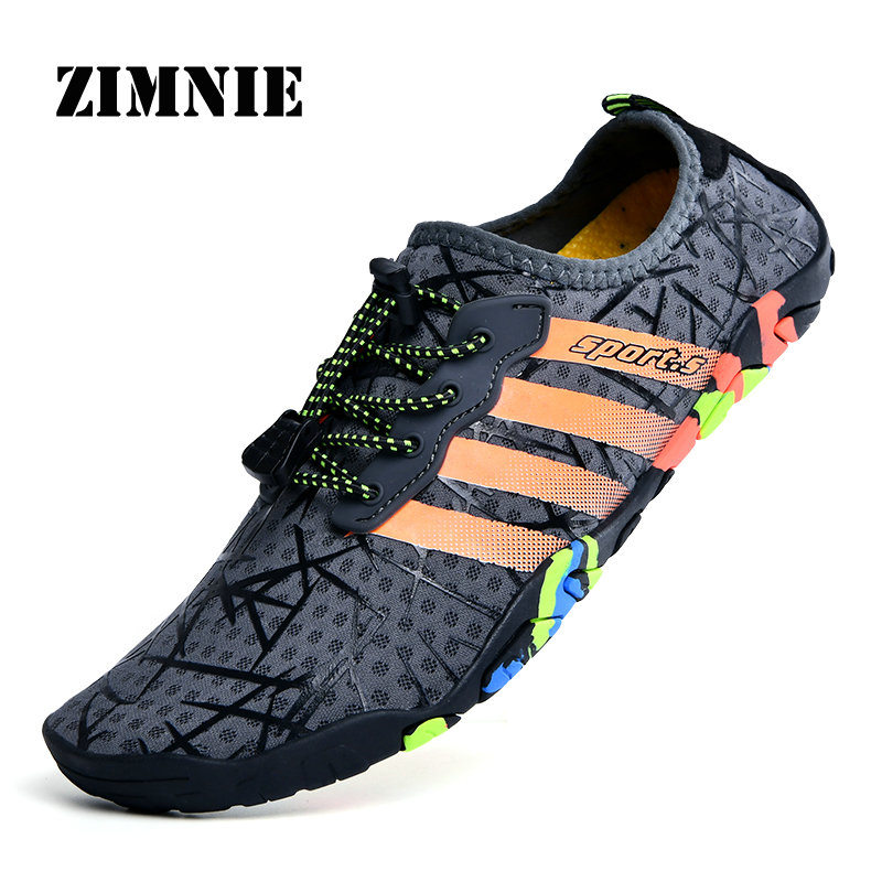 ZIMNIE Unisex Sneakers Swimming Shoes Water Sports Aqua Seaside Beach Surfing Slippers Upstream Light Athletic Footwear For Men