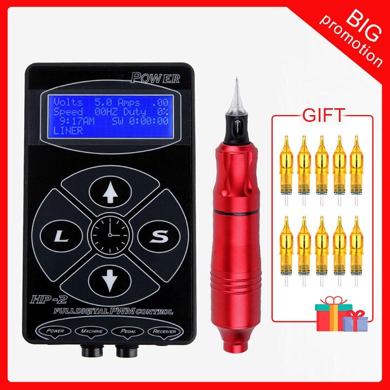 Professional Tattoo Power Supply  HP-2 Tattoo Machine Guns Digital Dual LCD Display Tattoo Supplies Tattoo Kits