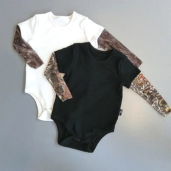 2020 Brand Cotton Jumpsuit for Newborn Baby Boys and Girls Letter Print Tattoo Jumpsuit Autumn Cotton Clothes MBR244 1