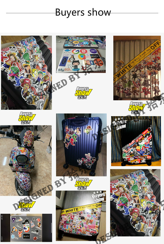 Купить с кэшбэком Halloween Theme 100Pcs Into Not Repeat Lucky Bag Cool Single Car Motorcycle Graffiti Adhesive Paper Stickers Sticker TZC12G
