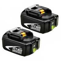 Doscing 2 pièces 18V 6000Mah Bl1860 Lithium Ion Batterie De Remplacement Avec indicateur LED Pour Makita Bl1850 Bl1840 Bl1830 Bl1850 Bl1860