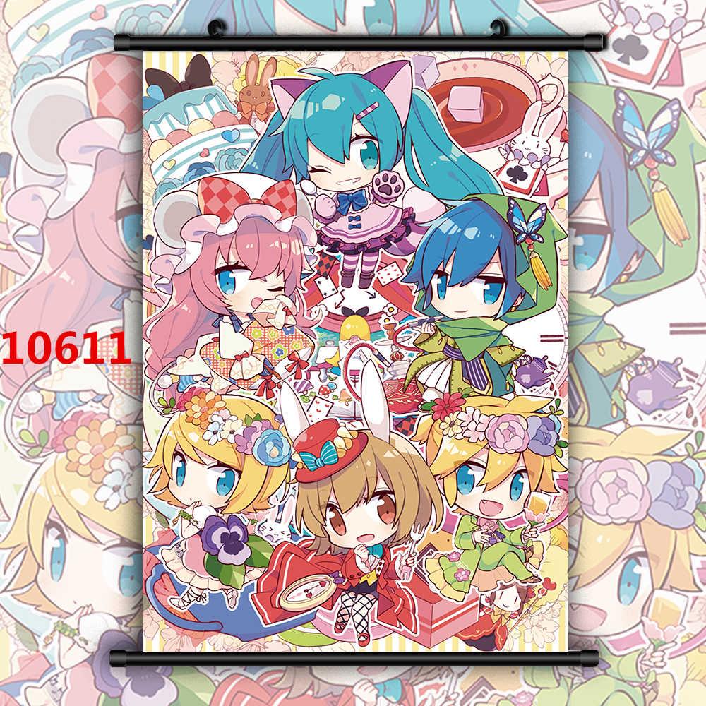 VOCALOID Rin Len Miku Luka Anime Manga HD Imprimer Mur Affiche Défilement