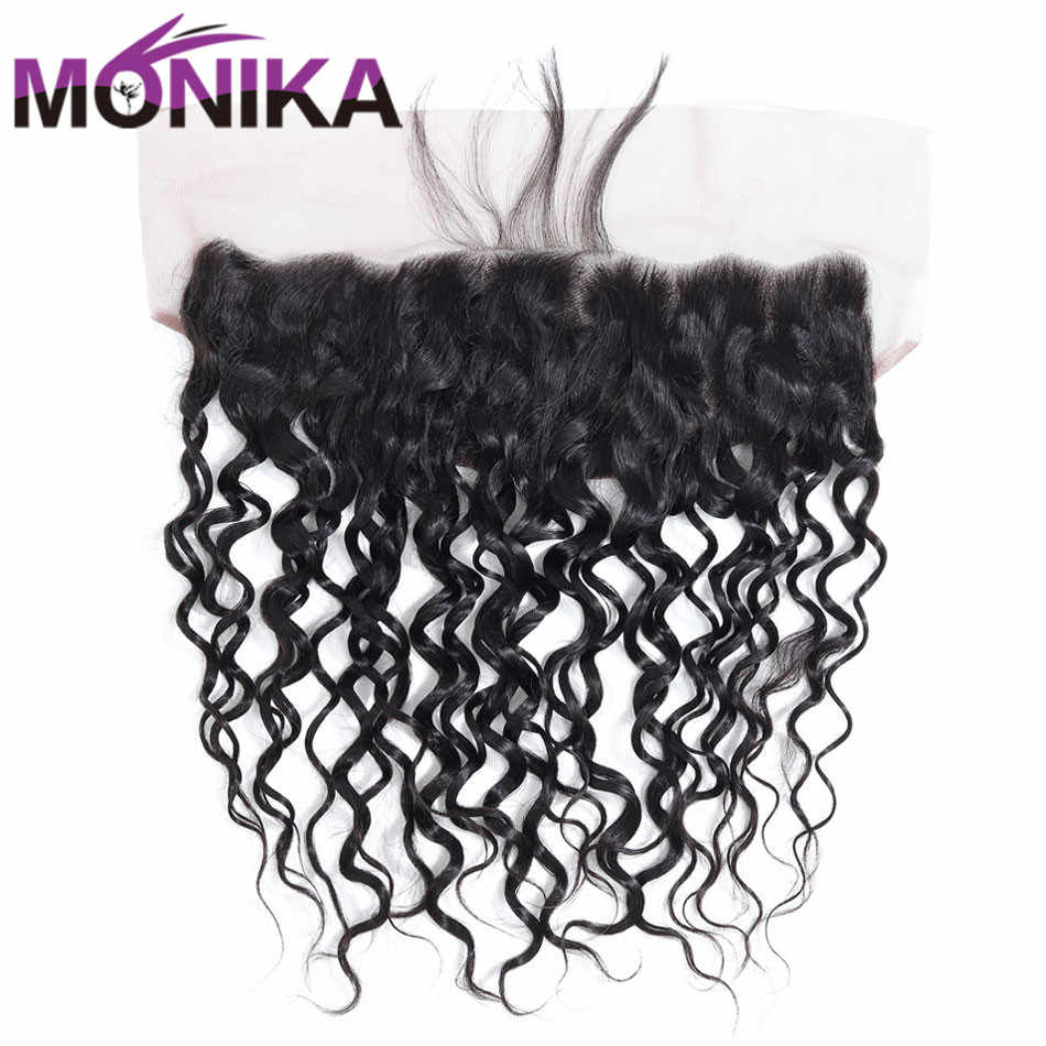Monika Hair Frontal Brazilian Water Wave Frontal Pre Plucked Ear To Ear Frontal Closure Non Remy Lace Closure Frontal Human Hair