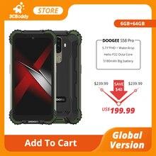 New DOOGEE S58 Pro Mobile Phone IP68/IP69K Waterproof Rugged Phone 5180mAh 5.71