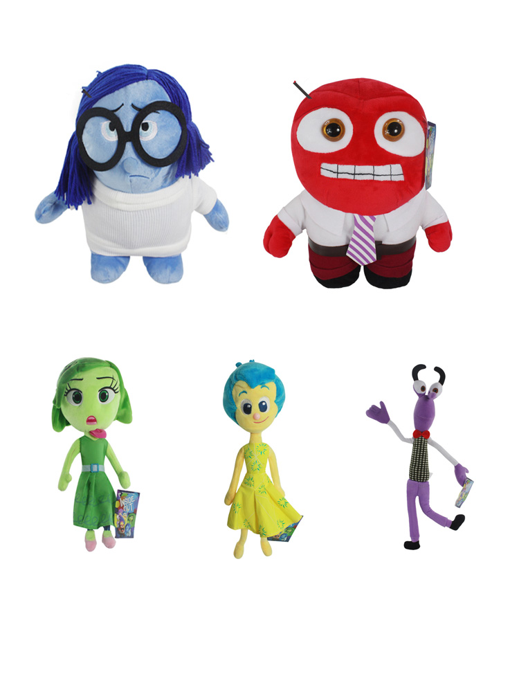 High Quality Pixar Movie Plush Toys Sadness Fear Joy Disgust Anger Soft Stuffed Toys Doll Inside Out Toys For Kids image