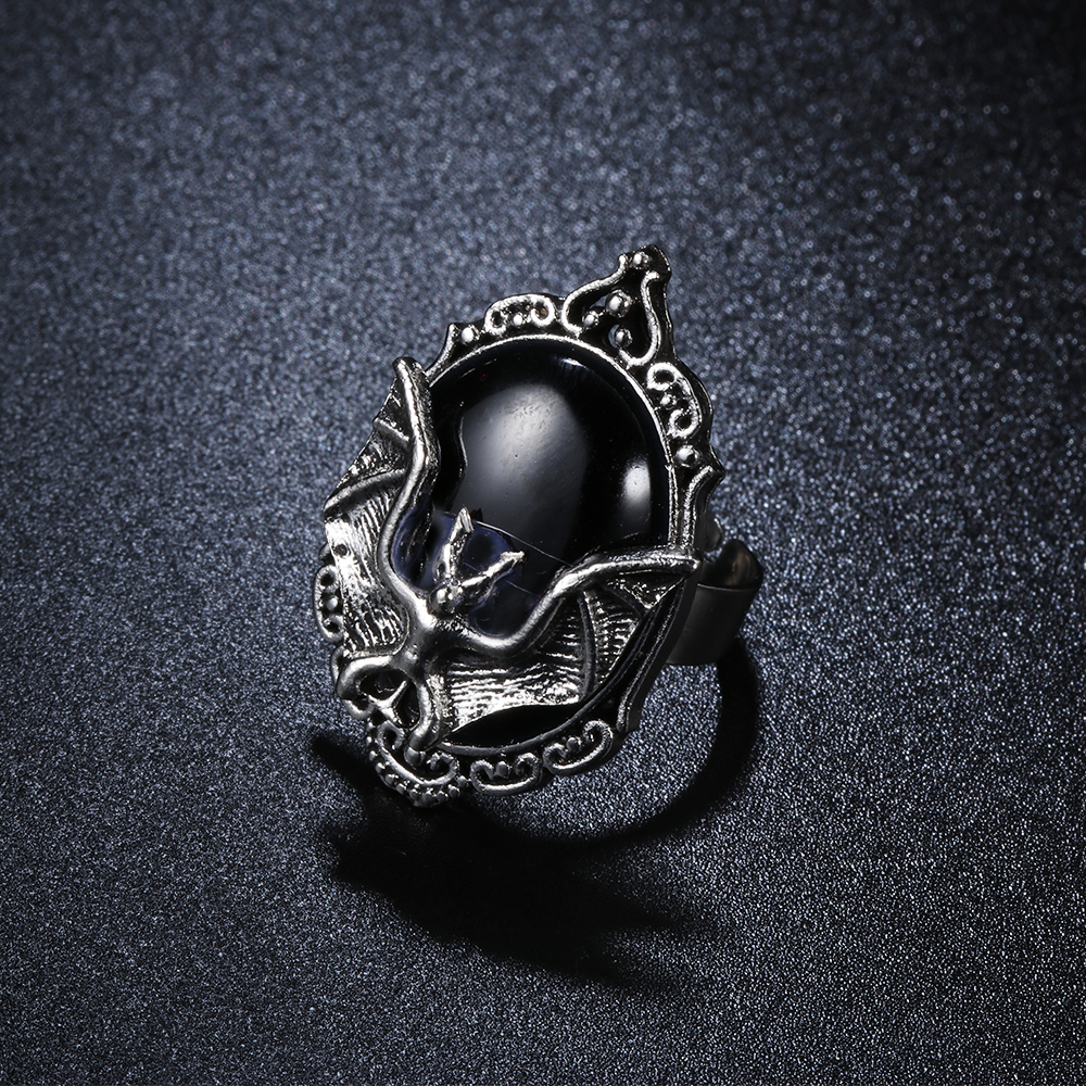 WHOLESALE-6-Gothic Vampire GIANT BLACK BAT EARRINGS Costume Party Favor-CLIP ON