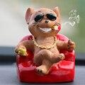 Автомобильный орнамент ПВХ милый качающийся головой собака автомобиль Интерьер приборной панели качели кивая щенок кукла украшения игруш...