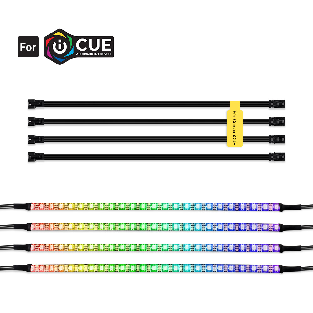 RGB Led Strip Individually Addressable For 5V WS2812B Digital Led Strip For CORSAIR ICUE,3 Pin 5V ADD Header On Motherboards,PC
