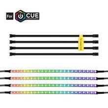 Listwy RGB Led indywidualnie adresowane do 5V WS2812B cyfrowa taśma Led dla CORSAIR iCUE,3 pin 5V dodaj nagłówek na płytach głównych, PC