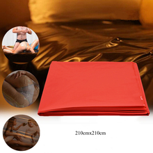 Waterproof Adult Bed Sheets Sex Massage SPA Mattress Cover Allergy Relief Bug Hypoallergenic Red Mat 210X210cm