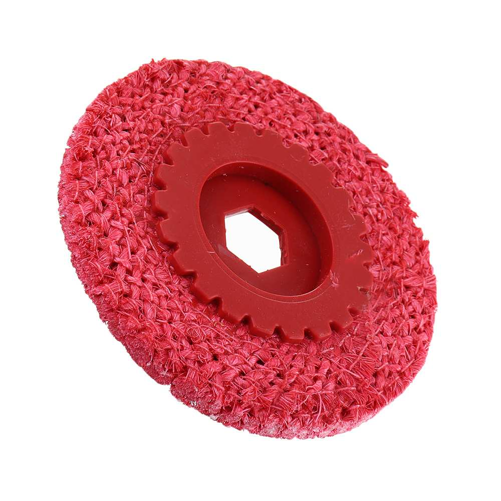 Red Hemp Rope Buffing Wheel For Stainless Steel Metal Coarse Grinding Angle Grinder Polishing Tools
