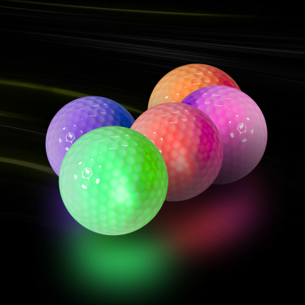 5 Colors Luminous Flashing Golf Balls Light Up For Night Training  Sports Shining Ball Glow In The Dark  Long Distance Shooting