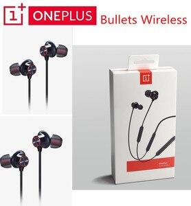 Image 1 - Original OnePlus Kugeln Drahtlose 2 Kopfhörer AptX Hybrid Magnetic Control Google Assistent Schnelle Ladung Für Oneplus 7 Pro