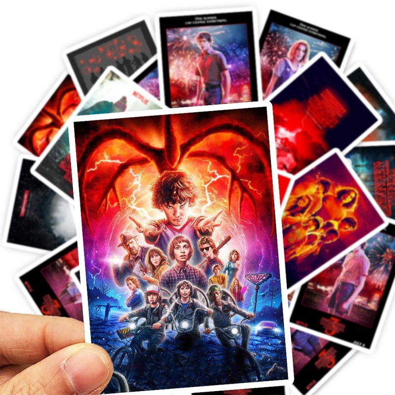 25pcs/Pack Stranger Things Stickers Waterproof Skateboard Suitcase Snowboard Motorcycle Graffiti Laptop Sticker Kids Classic Toy