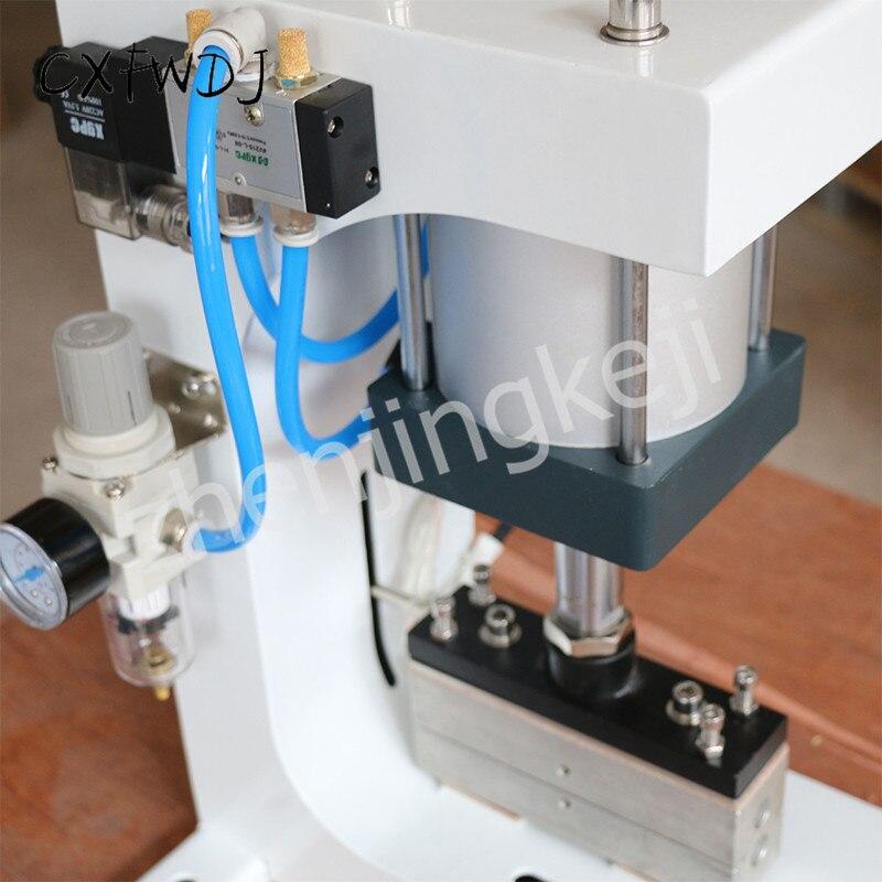 ZY-819G abflachung Maschine up und Unten Heizung 220V/50HZ Rillen Maschine Elastische Pneumatische Heiße Stanzen Maschine 1600W