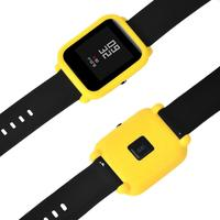 Protector de pantalla fino con marco colorido, funda de silicona, carcasa protectora para Huami Amazfit Younth Edition, accesorios para reloj inteligente