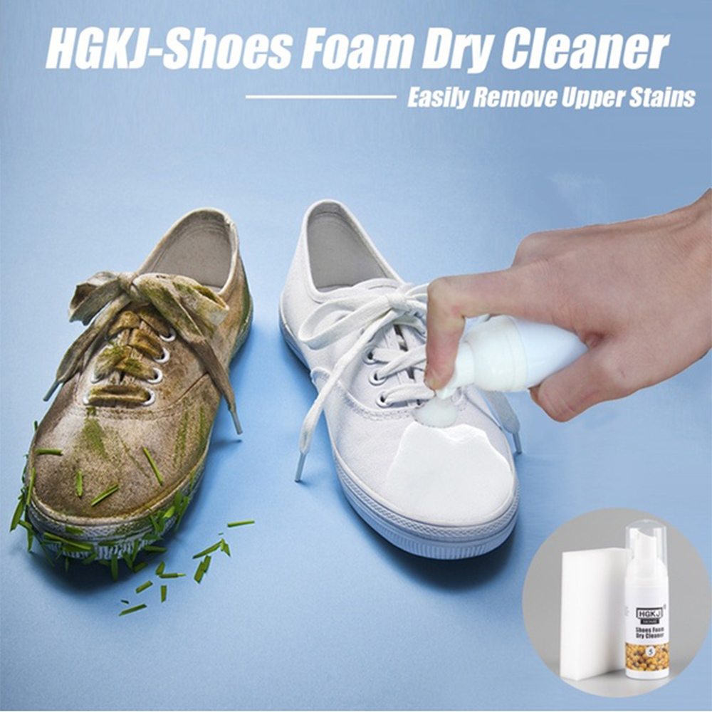 20ml/50ml Foam Dry Cleaner For Small White Shoes Down Jacket Clothing Fabric Washing-free Cleaning Agent Supply sMulti-purpose
