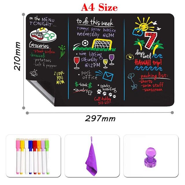 Магнитная доска для рисования, размер А4 2