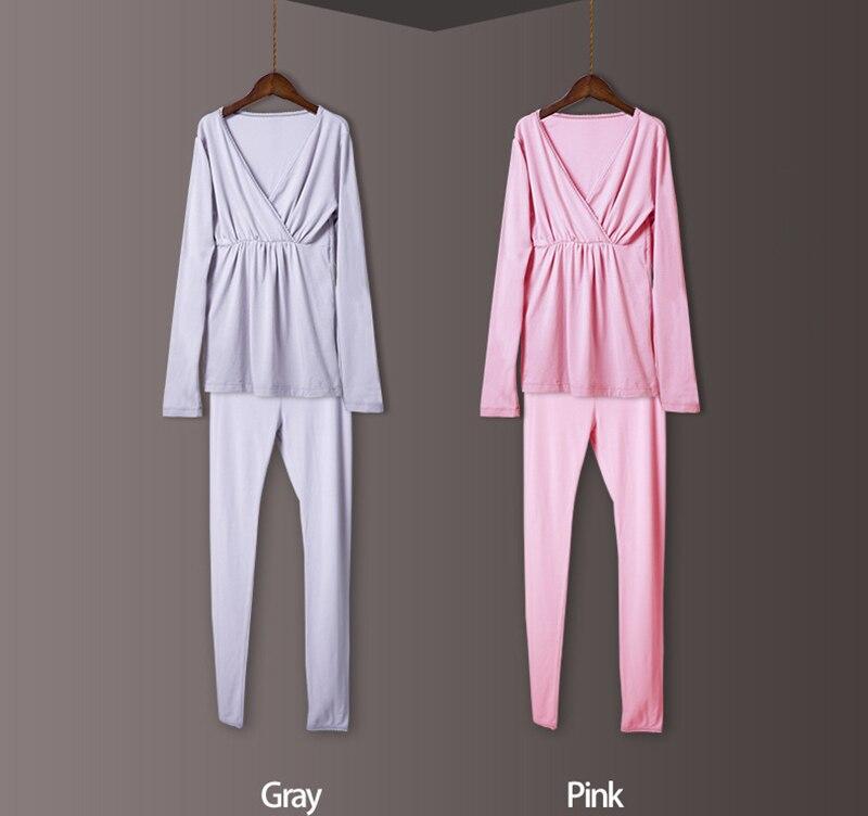 Утолщенная Одежда для беременных женщин из хлопка размера плюс XXL, модное термобелье из модала, одежда для сна, Женский Топ для кормления грудью, домашняя одежда