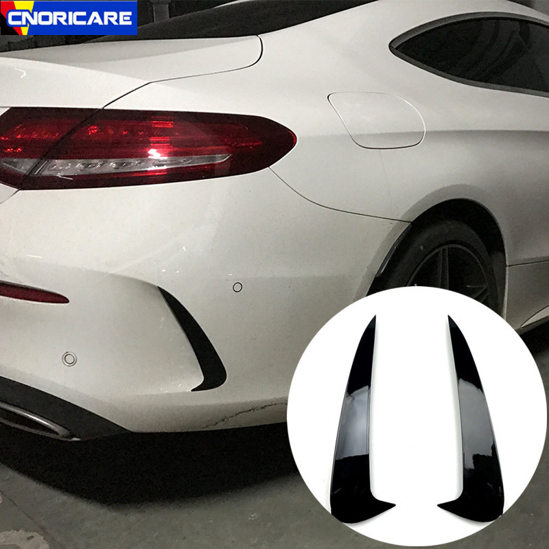 Car Styling Rear Bumper Spoiler Both Side Canard Decoration Cover Trim For Mercedes Benz C Coupe C205 2015-2019