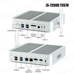 Image 5 - Процессор Eglobal Fanless мини компьютер Intel i7 10510U i7 8565U i5 8265U 2 * DDR4 Msata + M.2 PCIE, мини ПК Windows 10 HTPC Nuc VGA DP HDMI