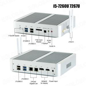 Image 5 - Eglobal Fanless Mini Computer Intel i7 10510U i7 8565U i5 8265U 2*DDR4 Msata+M.2 PCIE Mini PC Windows 10 HTPC Nuc VGA DP HDMI