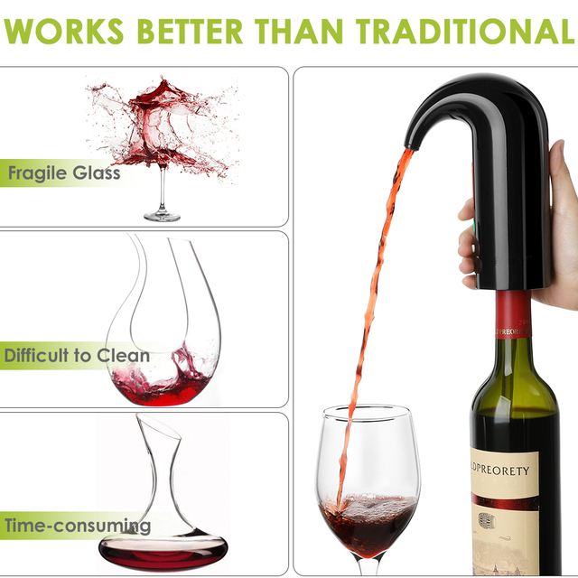 Portable Electric Wine Pourer & Decanter 4