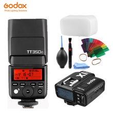 Godox mini tt350f x1t f ttl hss 24 ГГц 1/8000 s gn36 flash карманные