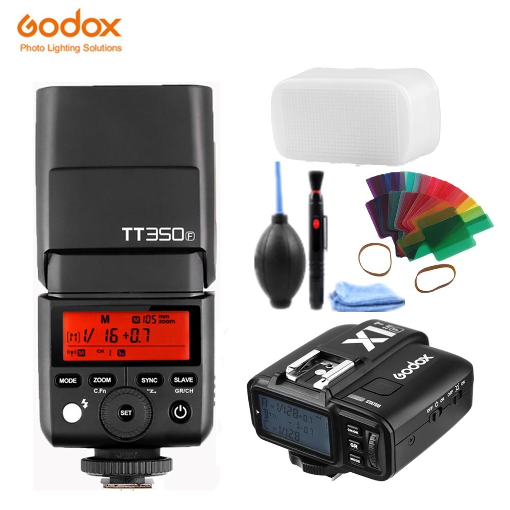 GODOX Mini TT350F X1T F TTL HSS 2.4GHz 1/8000 s GN36 Flash Pocket lights TT350 + X1TF Trigger Transmitter for Fujifilm Cameras Flashes     - title=