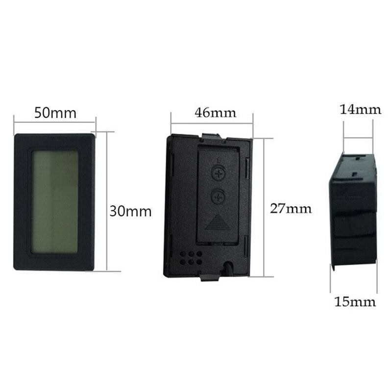 1Pc Mini Indoor Thermometer Digitale Lcd Temperatuur Sensor Vochtigheid Meter Thermometer Hygrometer Gauge Koelkast Thermometers 2