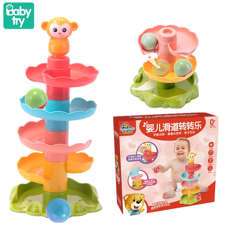 Baby Colorful Slide Balls Sound Juguetes Children Xmas Birthday Gifts Shower Bathing Swimming Water Toys For Kids Educational