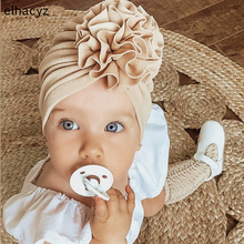 Cute Flower Baby Headband Girls Turban Spring Infant Hat Elastic Knot Toddler Newborn Cap Bonnet Headwrap Kids Beanies Hair Band