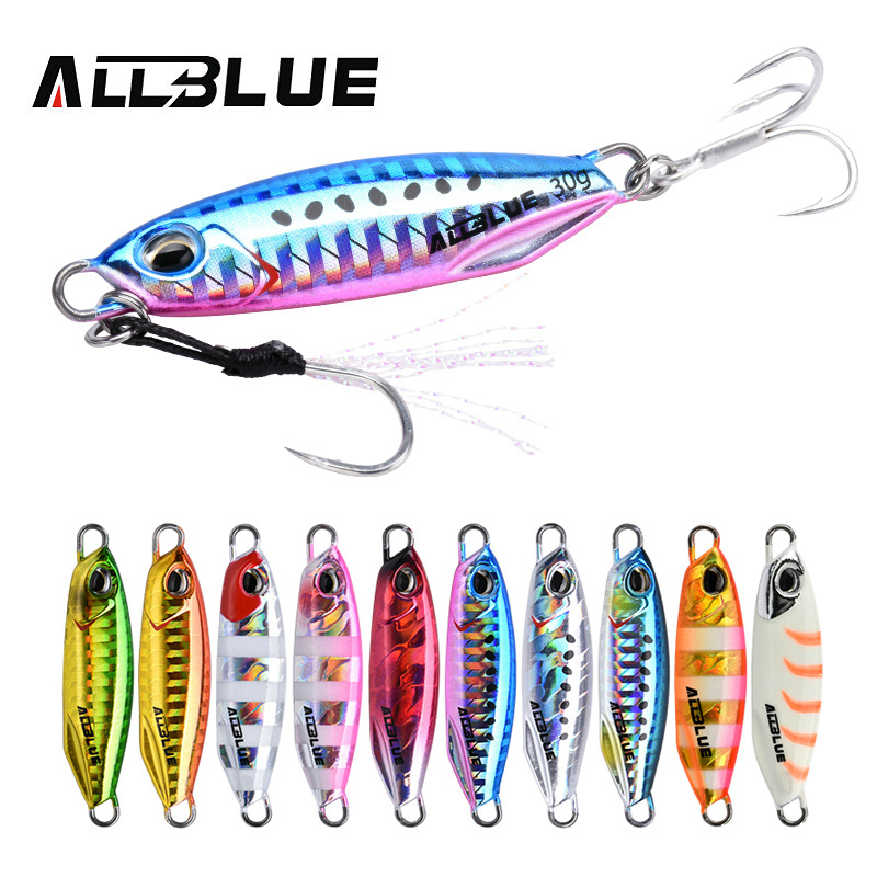 ALLBLUE New DRAGER Metal Cast Jig Spoon 15G 30G Shore Casting Jigging Fish Sea Bass Fishing Lure  Artificial Bait Tackle