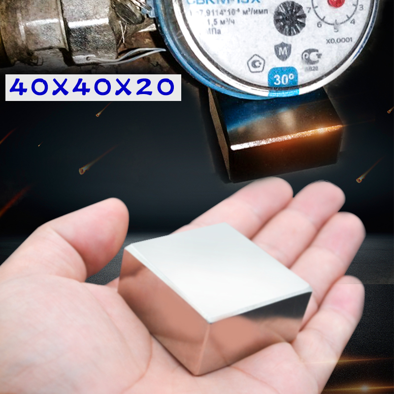 N52  1PCS block 40x40x20mm Super Powerful Strong Rare Earth Block NdFeB Magnet Neodymium Magnets 40x40x20 40*40*20