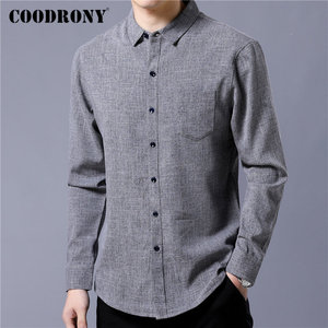 Image 2 - COODRONY Brand Men Shirt Business Casual Shirts Autumn Long Sleeve Cotton Shirt Men Clothes Camisa Masculina With Pocket 96093