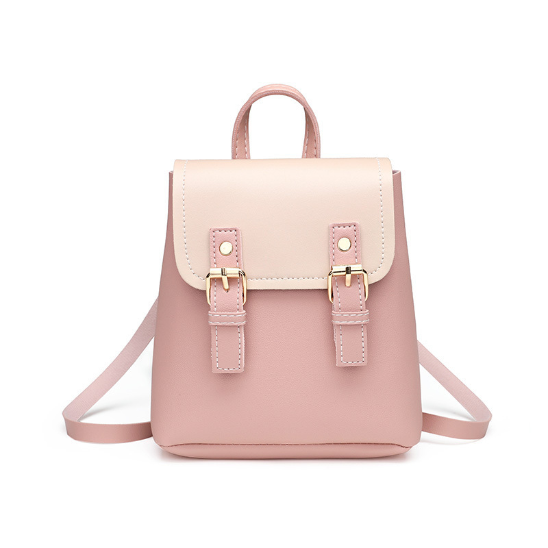 Fashion Contrast Color Small Backacpk For Women Mini Japan Style  Cute Schoolbag Chic Teen Girls Bookbags Casual Coins Phone Bag