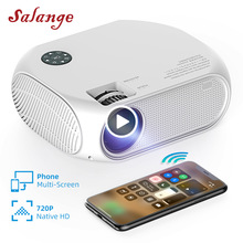 Salange LED Video Projector P58 3500 Lumens Home Theater Support Dolby AC3 Sound Full HD 1080P Mini Video Beamer tanie tanio Manual Correction CN(Origin) RoHS Digital Projector 4 3 16 9 Focus 280 Ansi Multimedia System 854x480dpi 30-200 inches Led Light