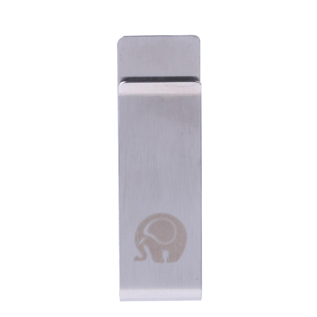 Slim High Quality Slim Money Clip Metal Stainless Steel Credit Card Holder Wallet Belt Buckle