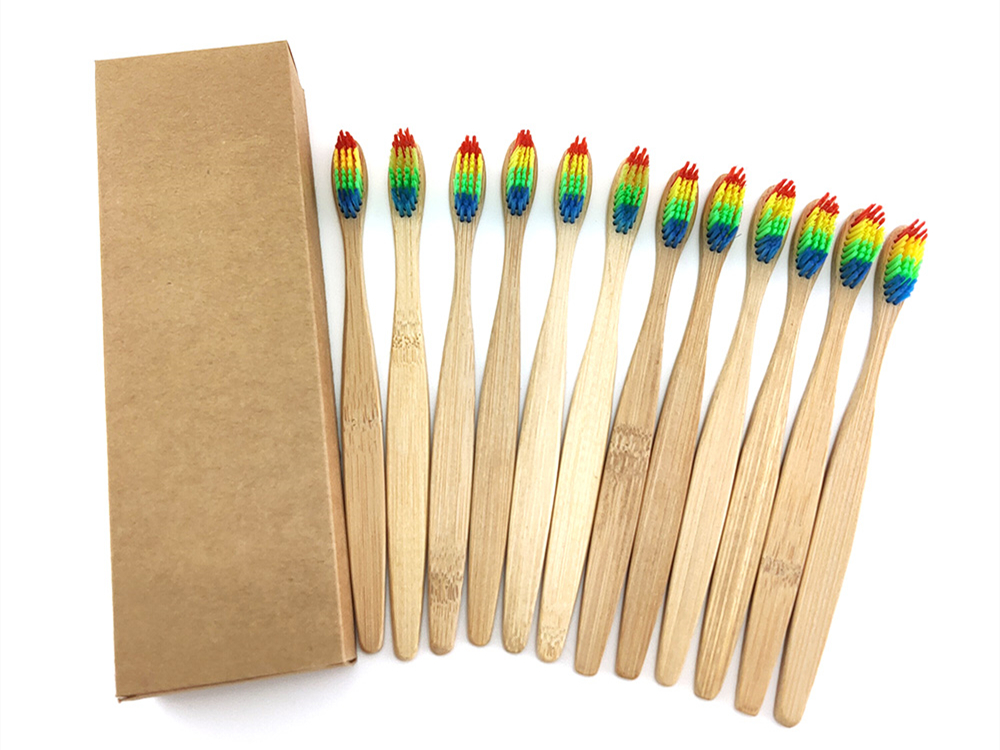 1139 1pc Free Shipping Eco-Friendly Medium Bristle Bamboo Toothbrush