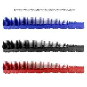 Image 5 - 10 ピース/セットガイド制限櫛セットボックス電気バリカン切削工具キット黒、赤、青 + ベース