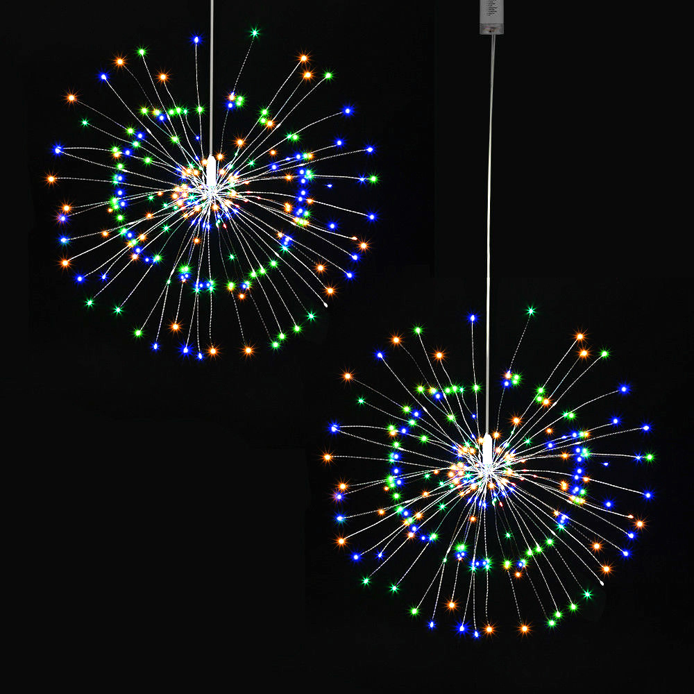150LED Firework String Light Copper Wire Firework Light Christmas Light 8Modes Christmas Light Garden Decor Festival Party Decor