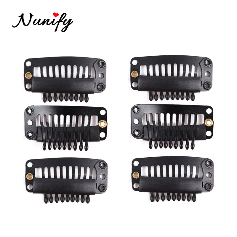 Nunify Clips For Hair Cloth Wig Combs Flat Hair Clips 6 Teeth Hair Wig Clips For Full Lace Wig Cap Wig Accessories Hair Tools