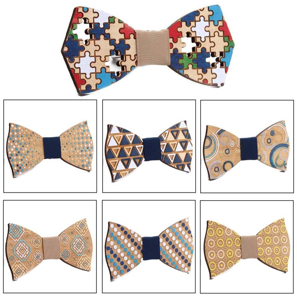 Мужской галстук бабочка, деревянная бабочка ручной работы с цветным узором, вечерние галстуки бабочки|Мужские галстуки и носовые платки| | АлиЭкспресс