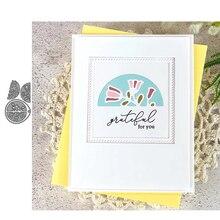 JC Flower Semicircle Pendant Metal Cutting Dies for Scrapbooking Craft Cut Die Stencil Decor Paper Mold Card Make Model Template