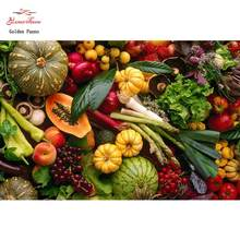 Cheia de exibio praa 5d Diamante Pintura diamante bordado cheio de frutas e vegetais de Cozinha mosaico de ponto-cruz